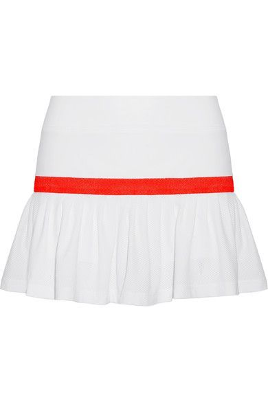 L'Etoile Sport - Two-tone Stretch-knit And Mesh Tennis Skirt - White