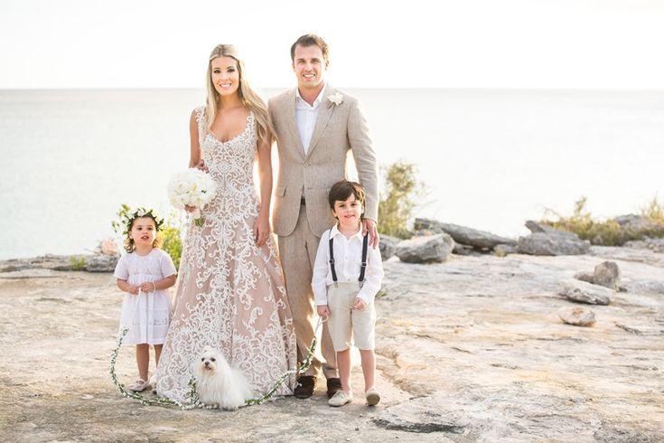 Daminha e pagem casamento na praia