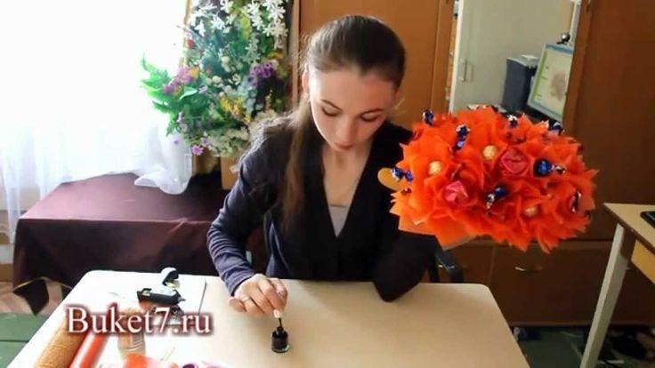 Ежик из конфет. Конфетные композиции своими руками. Пришли нам свои фотографии или задай вопрос в комментариях. Наш блог: http://buket7.ru/blog Группа в конт...