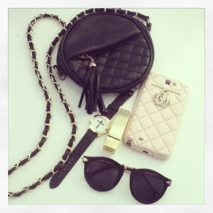 Adorned By Love: The Essentials  sunglasses.watch.lipstick.Note2.tassels