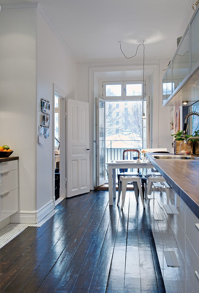Black And White Kitchen Wood Floor best 25+ black wood floors ideas on pinterest   black hardwood