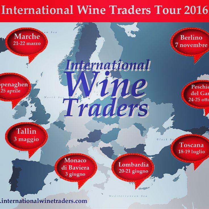 International Wine Traders, Tour 2016! By Iron3 www.internationalwinetraders.com #workshop #B2B #tour #wt2016 #Iwt #vino #export #promotion #italianwine #me #work #travel #buyers #international #traders #instawine #instadaily #instagood #Tallinn #Berlino #copenaghen #MonacodiBaviera #Marche #Toscana #Veneto #winefair #wineworkshop #opportunity #maps #savedate