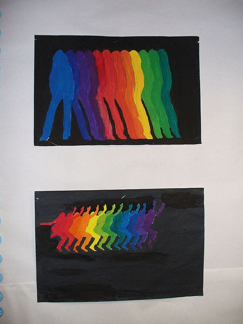 Combine something like this with Keith Haring drawings... - Uhwarrie Middle School Artwork by archdalelibrary, via Flickr