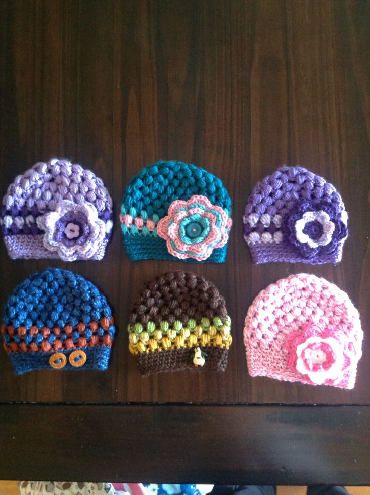 @audreymarieg your amazing crochet baby hats