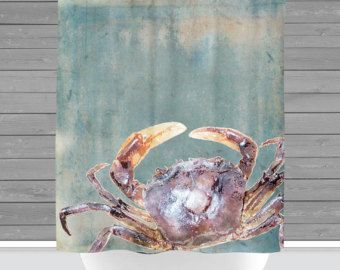 Crab shower curtain   Etsy