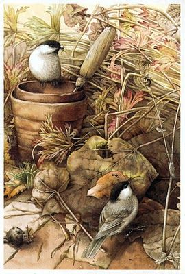 autumn setting: marjolein bastin.  Kim I love this and it reminds me of  your life...all the hidden treasures and how they are all ending up in your house...........
