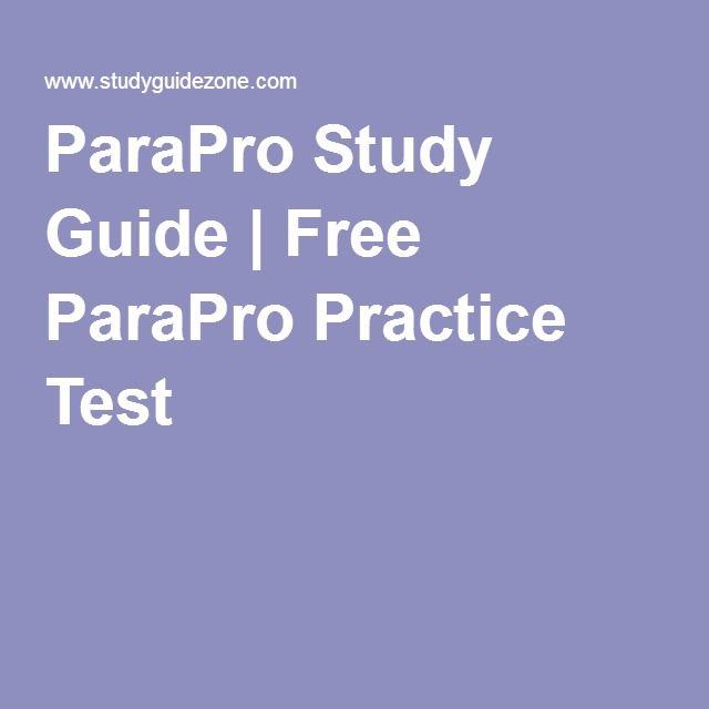 Paraprofessional teacher study guide