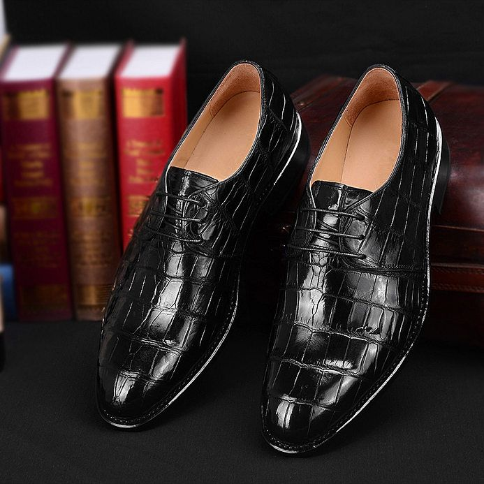 fdbc1432c5 Men's Premium Genuine Alligator Skin Dress Shoes   Metezer Personal ...