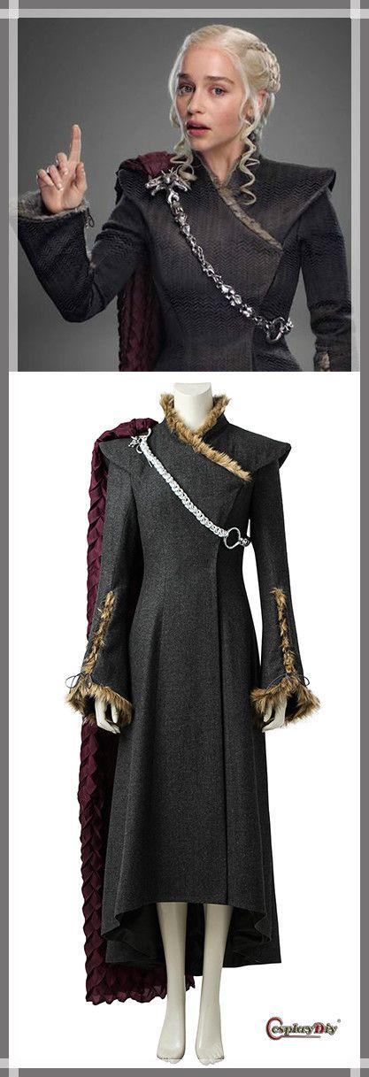 Custom Made Game of Thrones Season 7 Daenerys Targaryen Mother of Dragon Cosplay Costume