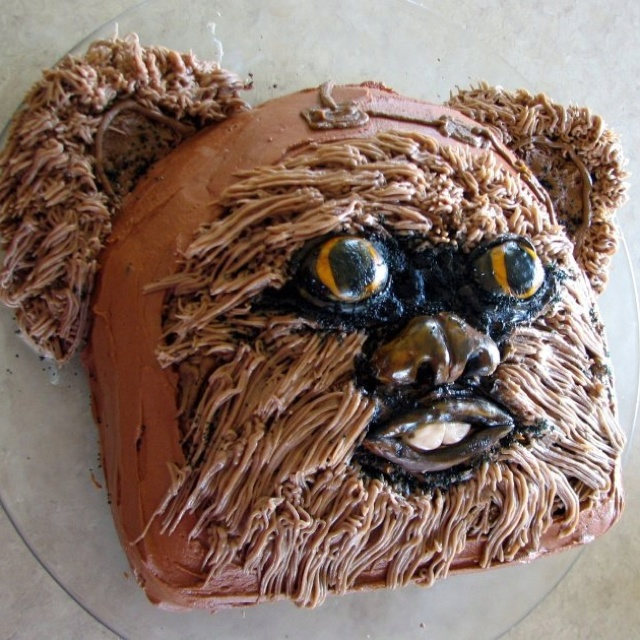 Ewok cake, by Gypsy Queen Cakes