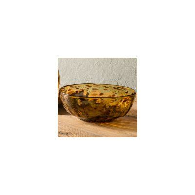 VivaTerra Classic Tortoise Recycled Glass Serving Bowl