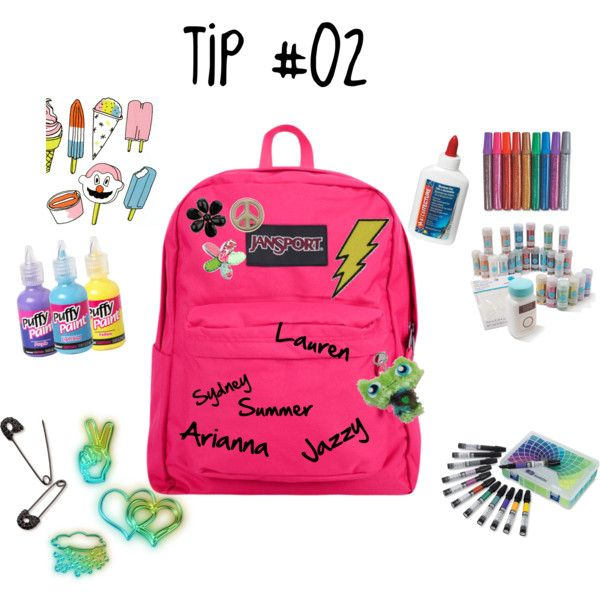 How to Decorate A Boring Backpack by miss-tips on Polyvore featuring art and advice