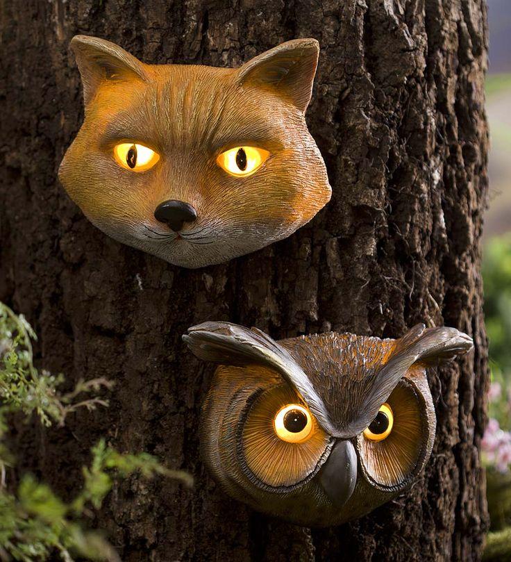 Glowing Animal Eyes Tree Face