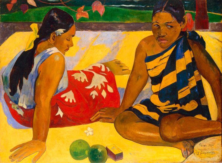 Paul Gauguin, 'Parau api', 1892 Quelles nouvelles? Huile sur toile, 67 x 91 cm Staatliche Kunstsammlungen Dresden, Galerie Neue Meister, Dresde  Photo: Jürgen Karpinski