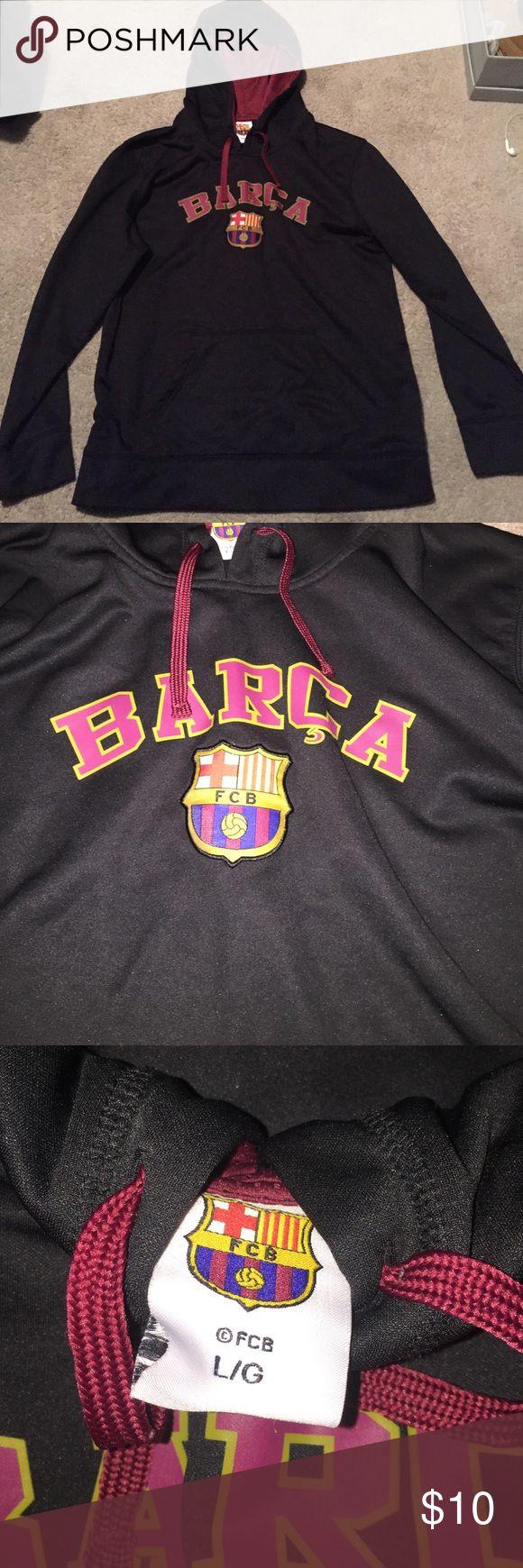 Men's FC Barcelona sweatshirt Men's black size large Fc Barcelona soccer sweatshirt. Great for soccer fans Shirts Sweatshirts & Hoodies
