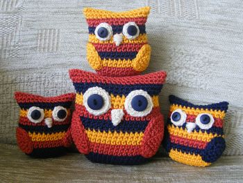 crochet owl family pattern