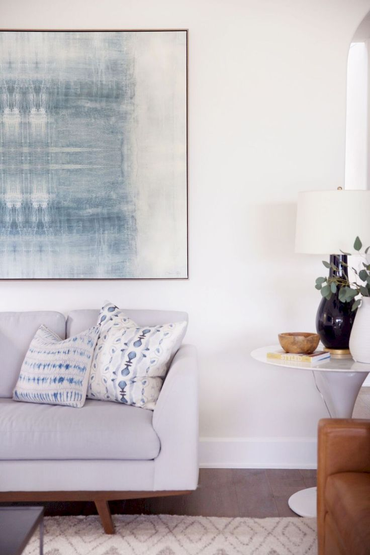 New trend painted chairs with dipped or raw legs jelanie - 65 Comfy Coastal Living Room Decorating Ideas