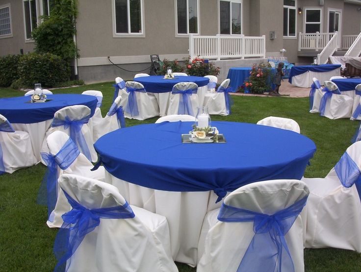 Royal blue wedding table decorations