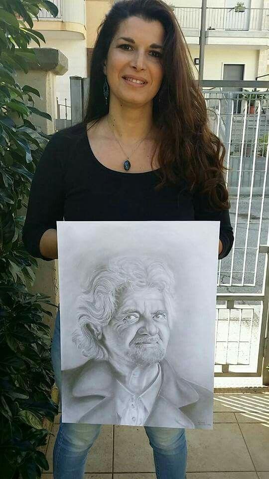 #drawing #ritratto #portrait #grafite #artwork #mydrawing #follwing #like#paginafacebook #artbytamara #share #beppegrillo ✏✏✍✍#iodicono #votono #movimento5stelle #5stelle