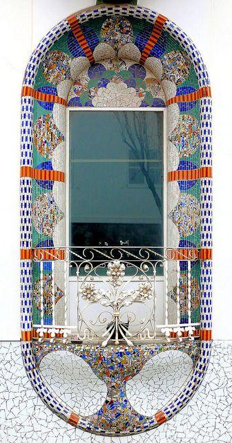 Catalonian Modernisme, Window, Dominics 026 g, Barcelona - Spain  by Armin Schulz