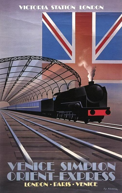 Pierre Fix-Masseau Orient Express poster by kitchener.lord, via Flickr