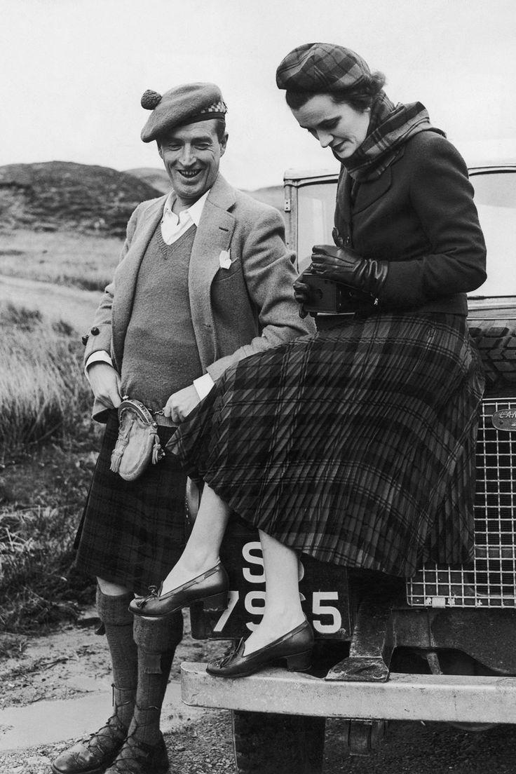 The Most Noble Ian, 11th Duke of Argyll and Margaret, Duchess of Argyll. Scotland 1952