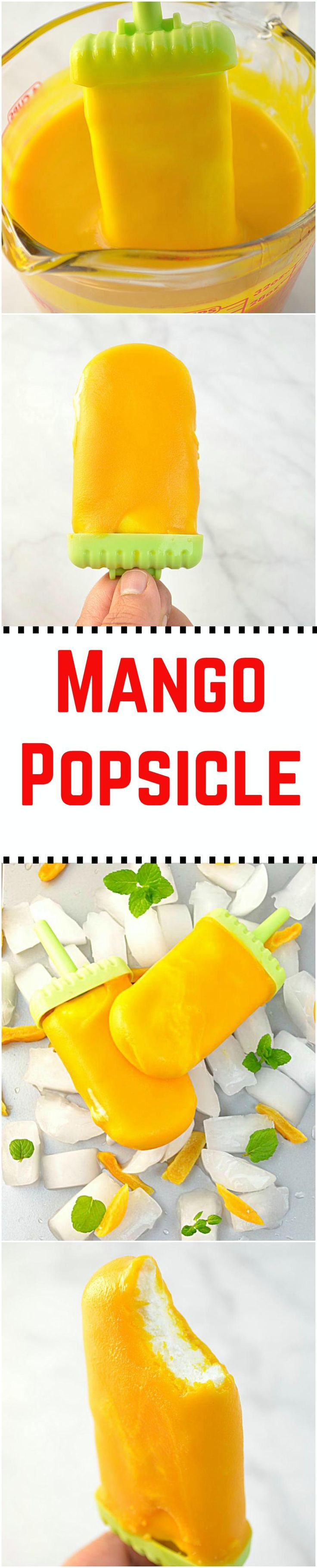 With summer right upon us, it's time to enjoy all our favorite frozen treats! And what could be better than a rich, creamy and no - cook homemade mango popsicles that are super easy to make and are a perfect treat to beat the summer heat!