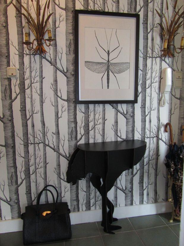 Cole and son wallpaper woods Ibride console diva designer: véronique von westberg