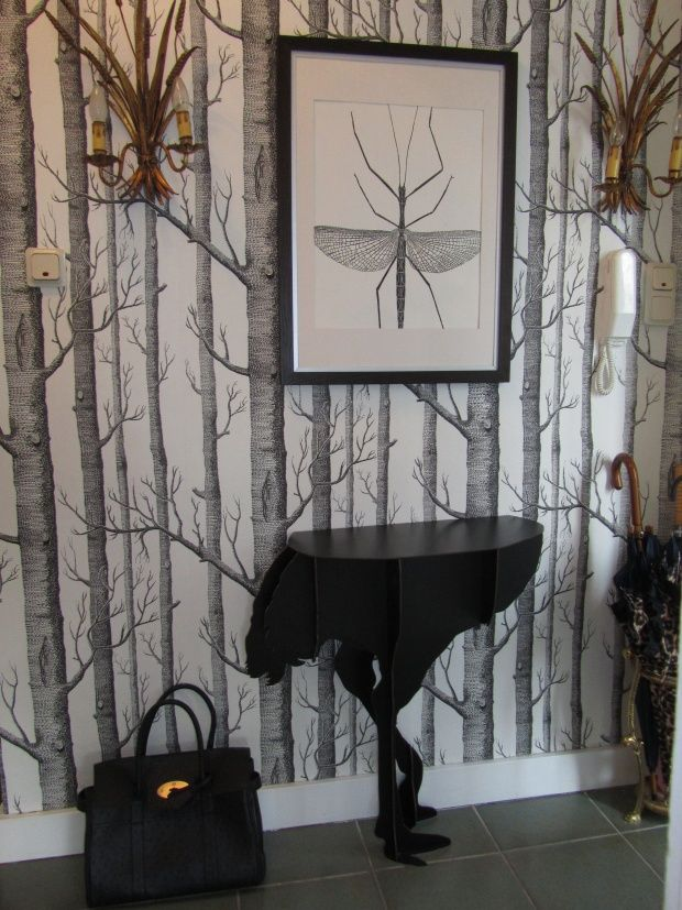 Cole and son wallpaper woods Ibride console diva designer: véronique von westberg