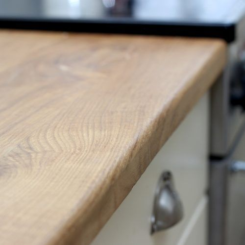 Solid Panel Oak Worktop Edge