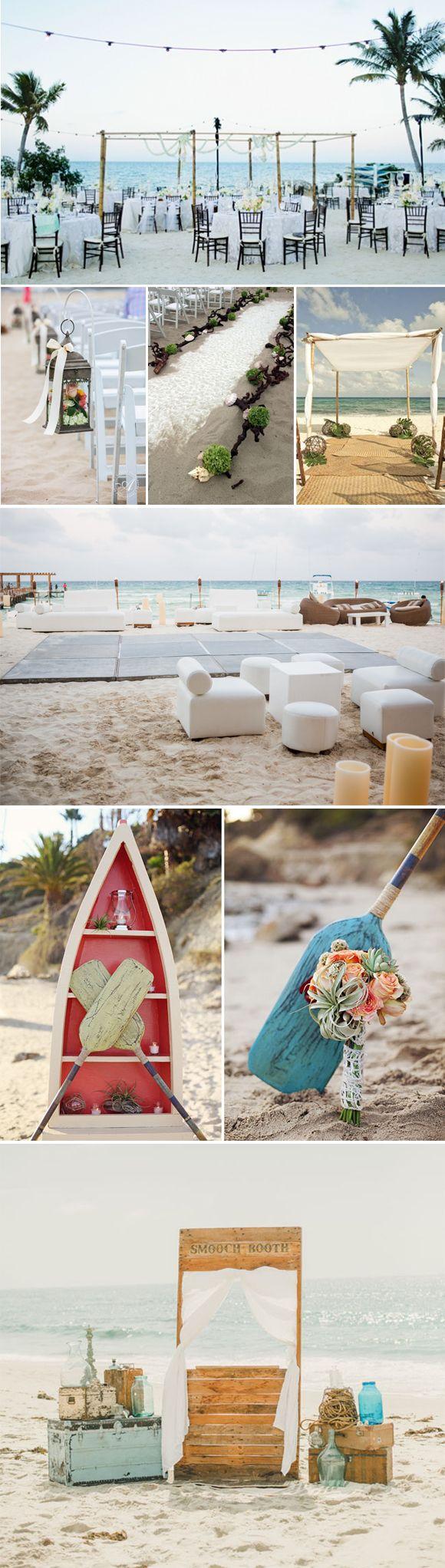 Decoracion de bodas en la playa: Ideas geniales para los novios que os casáis en la playa decoréis vuestra boda con mucho estilo.