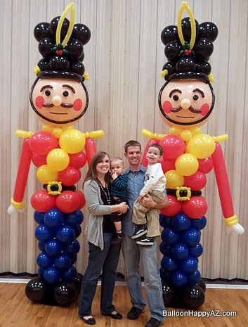 Nutcracker / Toy Soldier Christmas Balloon Column Decorations -