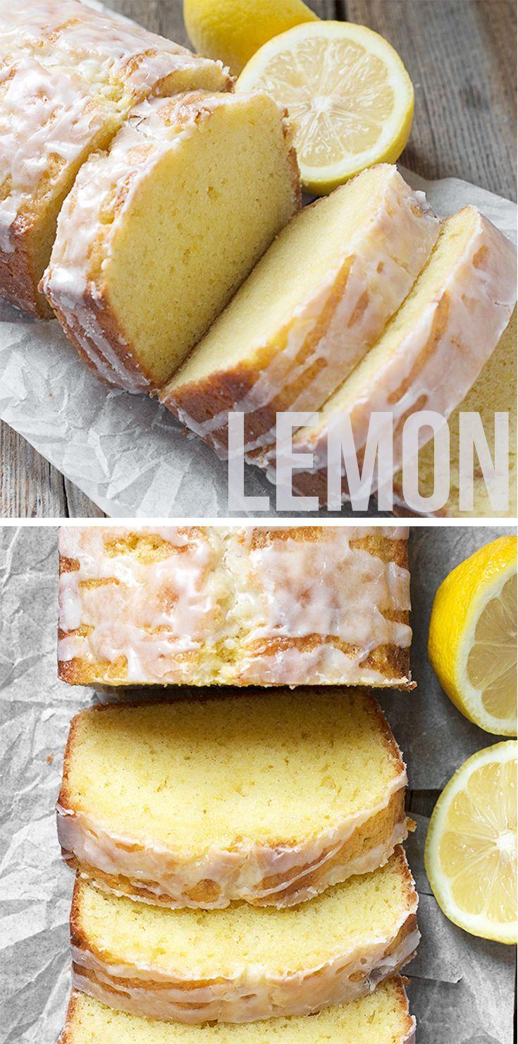 Glazed Lemon Pound Cake Loaf Dieses traditionelle französische Zitronentörtchenrezept wurde …   – food-and-drinks