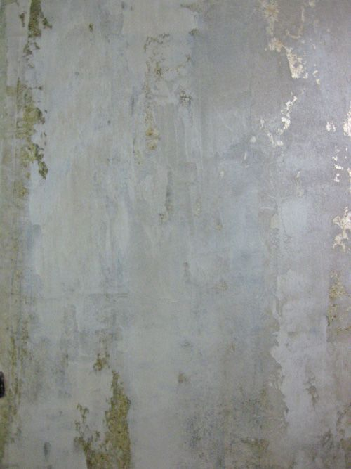 Plaster over metallic foil - http://www.artisphereonline.com/2011/07/20/how-to/diy-projects-the-bombshell-bath-step-2-mimosa-walls-by-surfaces-fine-paint/