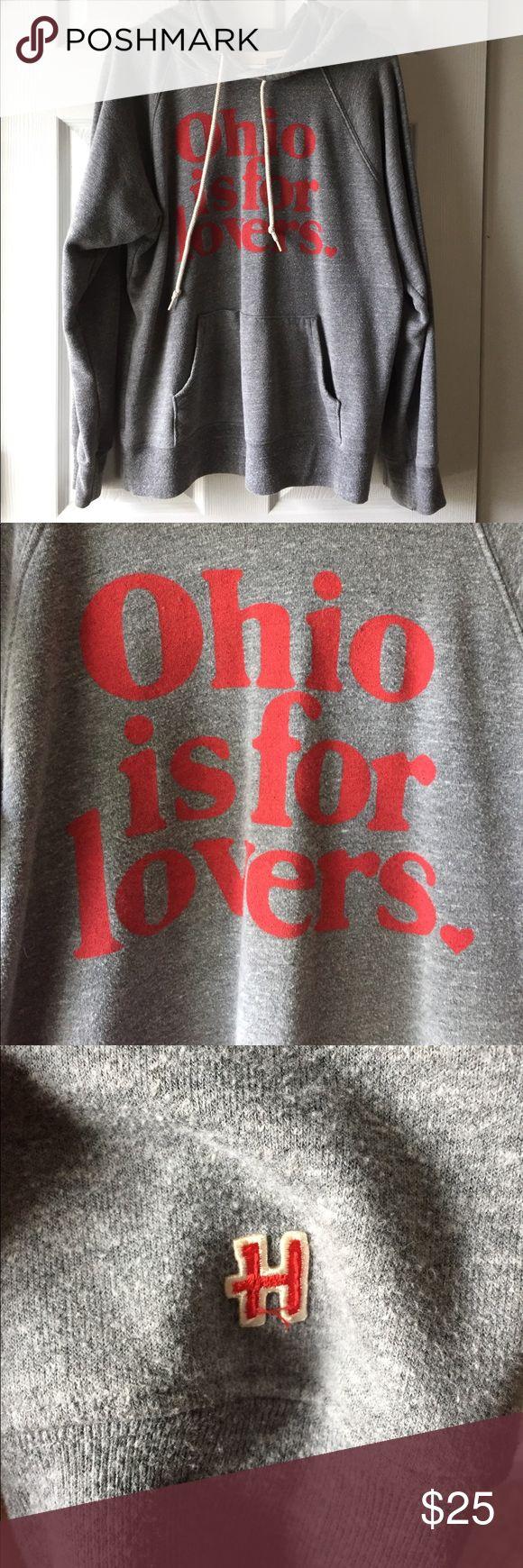 Homage Ohio Is For Lovers Hoodie Homage Ohio Is For Lovers Hoodie, size M. Front pocket. Homage Tops Sweatshirts & Hoodies