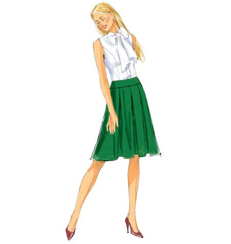 Misses' Pleated Skirt, B6102 http://butterick.mccall.com/b6102-products-48797.php?page_id=147 #butterickpatterns