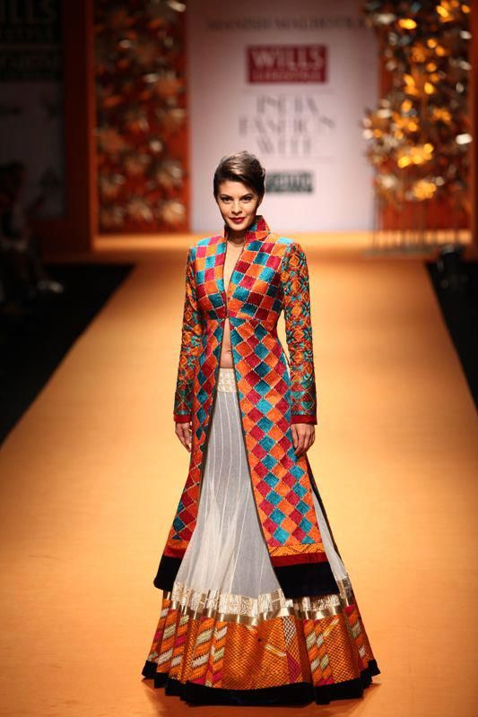 Love the use of the traditional Indian phulkari embroidery!!! One of the my favorite embroideries...