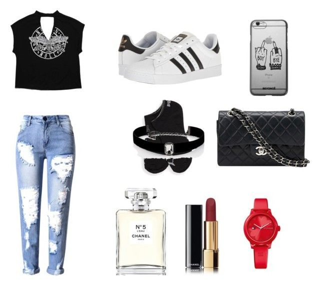 """""""👠"""" by isagarcia18 on Polyvore featuring moda, adidas, Puma, Chanel, Kenneth Jay Lane y Tommy Hilfiger"""