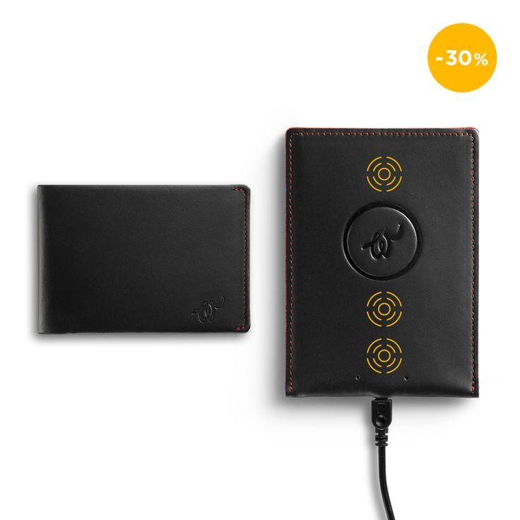 Magnetic Wireless Charging Pad Black + Woolet 1.0 Black (-30 %)