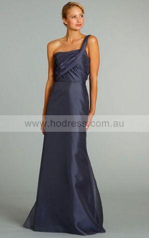 Organza One Shoulder Natural A-line Short Bridesmaid Dresses 0740478