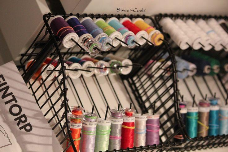 Rangement fils, bobines et canettes DIY  #couture #ikea #PINTORP