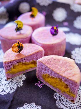 「[ハロウィン]紫芋のパンプキンマフィン」sachi | お菓子・パンのレシピや作り方【corecle*コレクル】