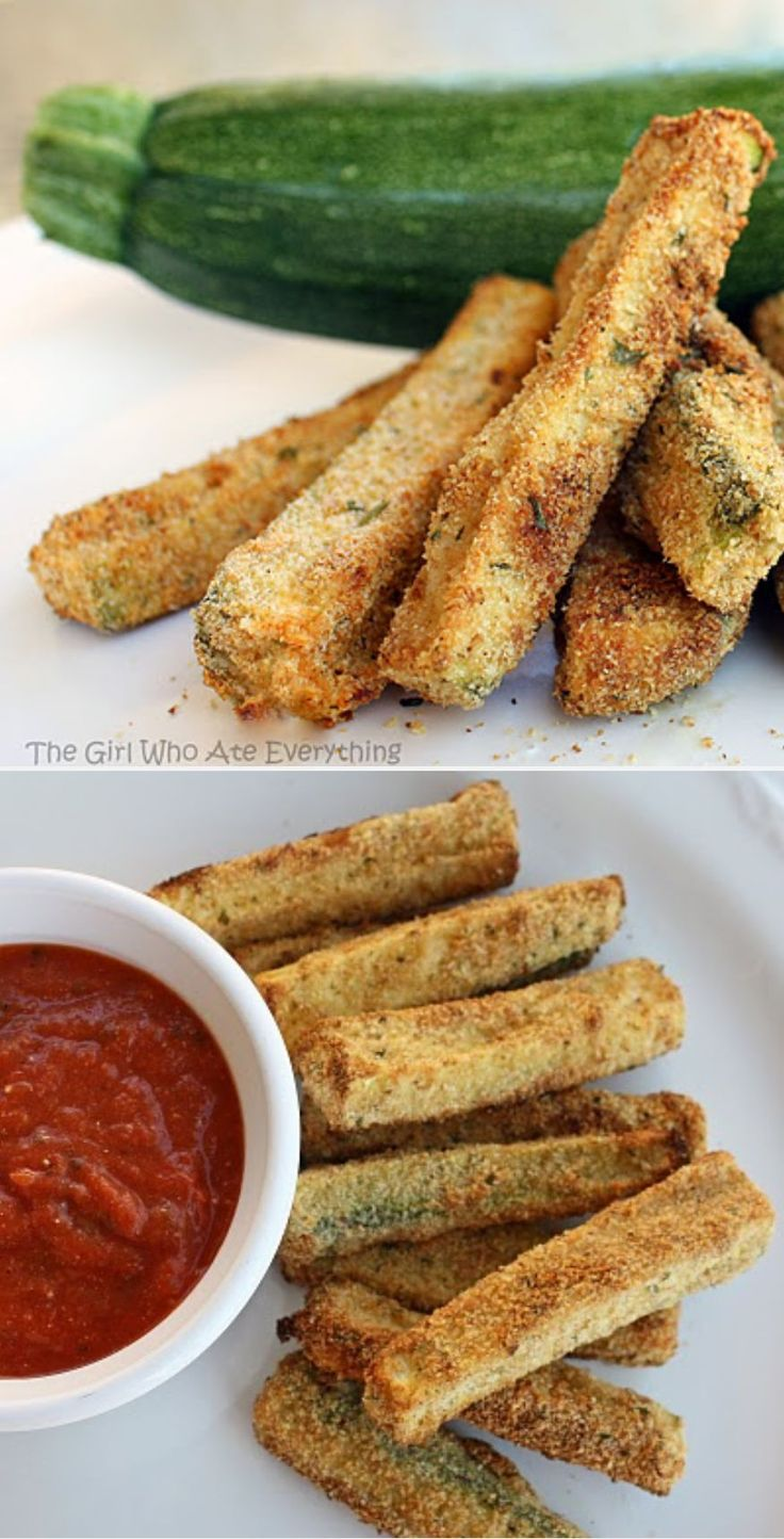 Baked Zucchini Fries - a delicious alternative to the fried version.