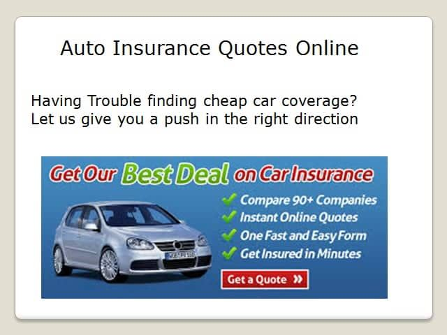 Free Car Insurance Quotes Online Auto Insurance Quotes