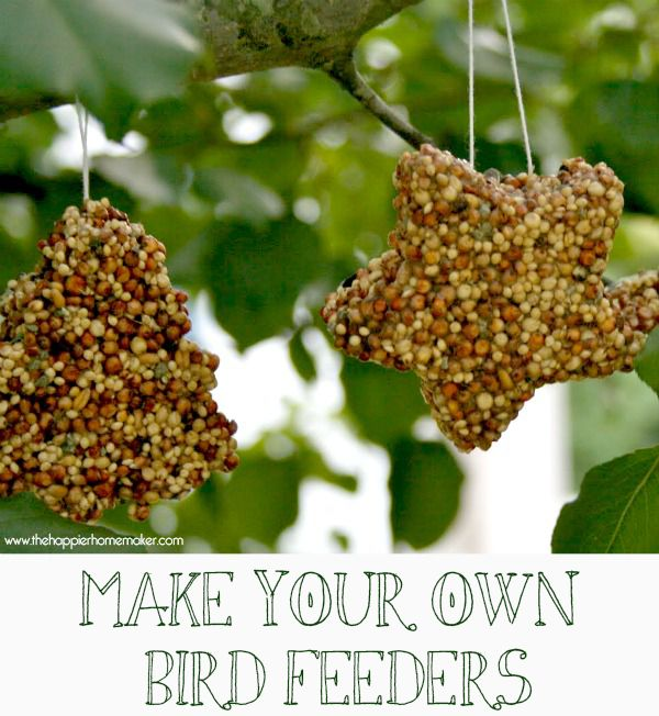{Kid's Crafts} Make Your Own Birdfeeders - The Happier Homemaker | The Happier Homemaker