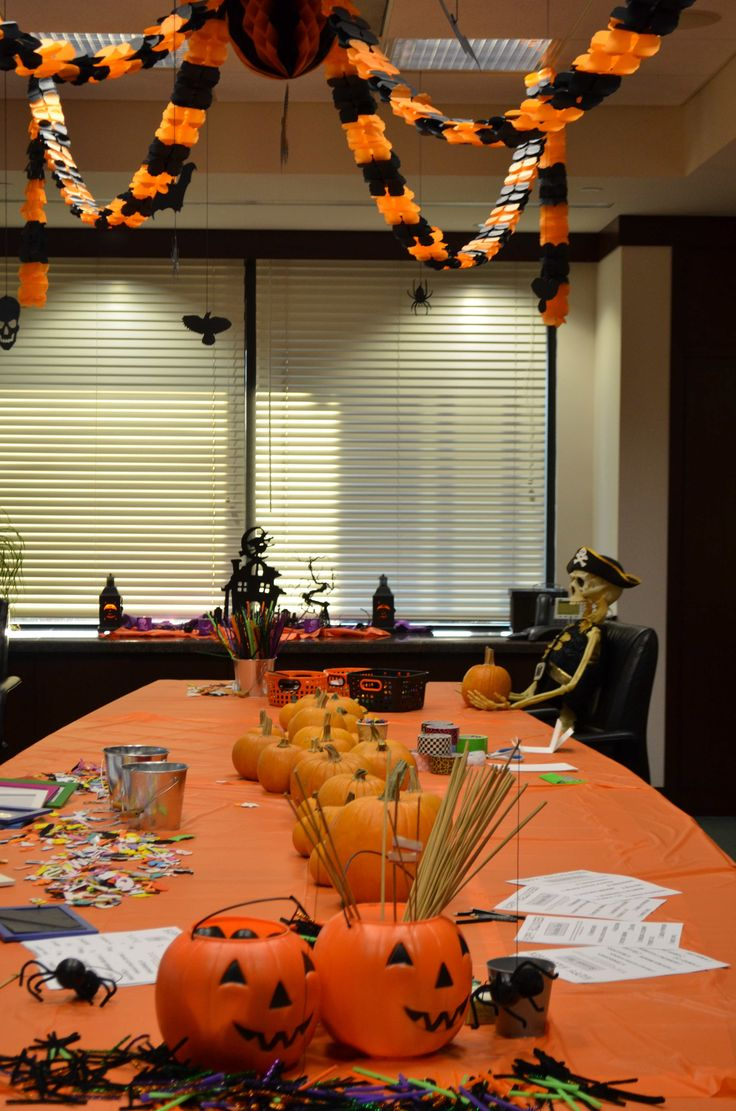 halloween decorations for an office by  kidsposhparties