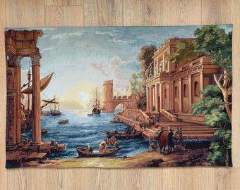 Turkish Tapestry / Woven Art / Giovanni / Art / Gift / Gobelin Upholstery / Woven / Wall Décor