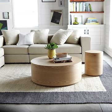 blanket stitch jute rug. steel/ivory with iron blanket stitching