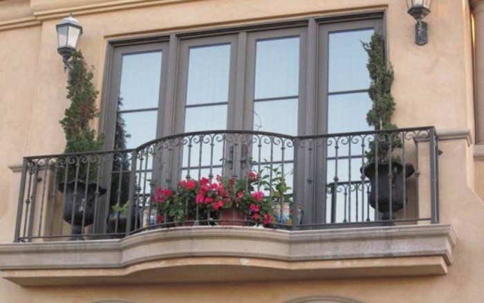 Juliette Metal Balcony Railing , House Balcony Railing In Landscaping And Outdoor Building Category
