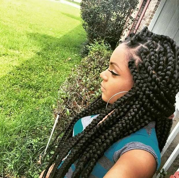 Outstanding 25 Best Ideas About Jumbo Box Braids On Pinterest Thick Box Hairstyle Inspiration Daily Dogsangcom